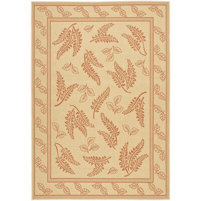 Laurel Natural/Terra Outdoor Rug Rug Size: Rectangle 53 x 77