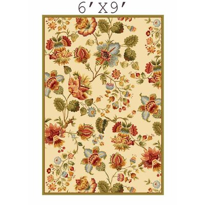 Kinchen Ivory/Red Area Rug Rug Size: Rectangle 6 x 9