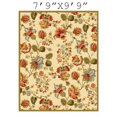 Kinchen Ivory/Red Area Rug Rug Size: Rectangle 79 x 99