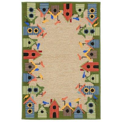 Dazey Hand-Tufted Natural Indoor/Outdoor Area Rug Rug Size: 5 x 76