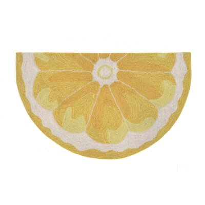 Ismay Hand-Tufted Yellow Indoor/Outdoor Area Rug Rug Size: Rectangle 18 x 26