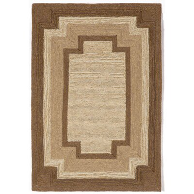 Dazey Natural Border Outdoor Rug Rug Size: Rectangle 2 x 3