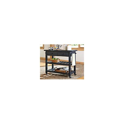 Bryn Kitchen Cart Base Finish: Black