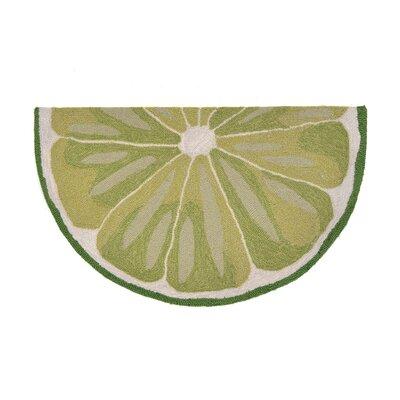 Ismay Hand-Tufted Green Indoor/Outdoor Area Rug Rug Size: Rectangle 18 x 26