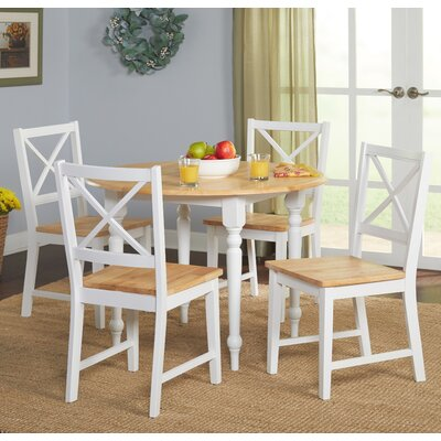 Sally 5 Piece Dining Set Color: White