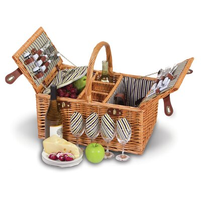 4 Person Picnic Basket with Removable Insulated Cooler AGGR6339 39867417
