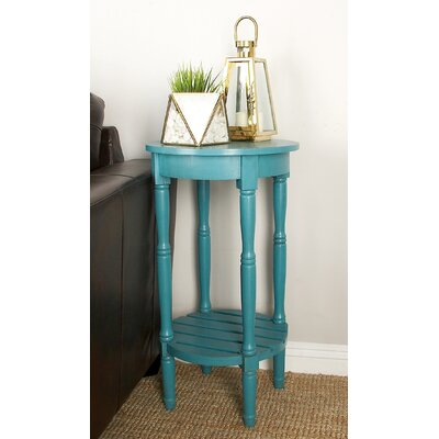 Maurice Round End Table Color: Blue