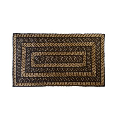 Saco Black/Tan Area Rug Rug Size: Oval 3 x 5