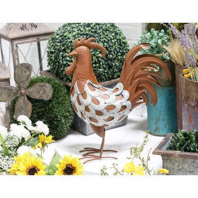 Duncannon Farmhouse Oval-Feathered Standing Rooster Iron Figurine AGTG4072 43154590
