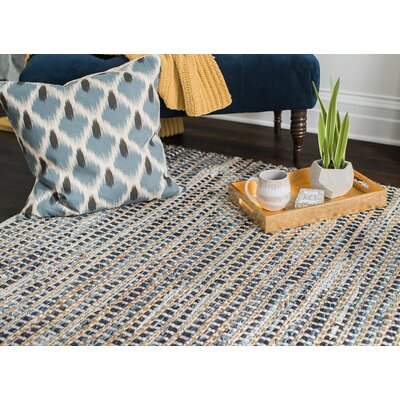 Perryville Hand-Woven Blue Area Rug Rug Size: 4 x 6