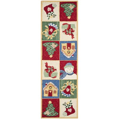 Kinchen Chirstmas Day Novelty Rug Rug Size: Runner 26 x 8