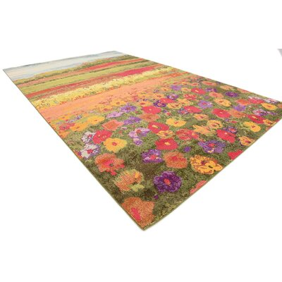 Laurentides Green/Red Area Rug Rug Size: Rectangle 33 x 53