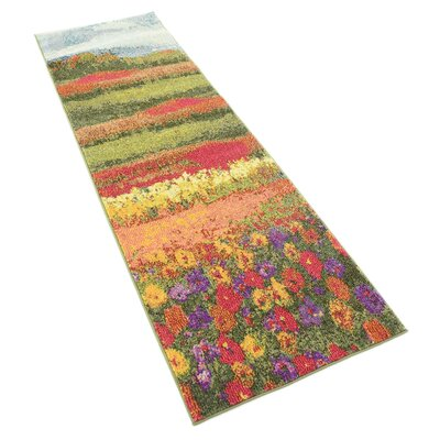 Laurentides Green/Red Area Rug Rug Size: Runner 27 x 10