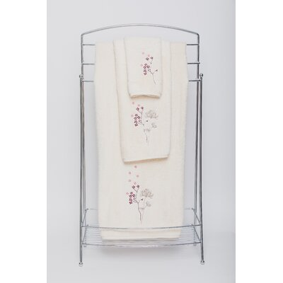 Flowers Embellished Bath Towel