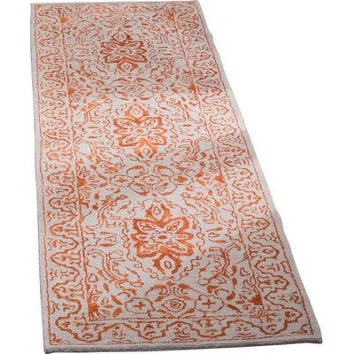 Prestige Hand-Tufted Gray/Rust Area Rug Rug Size: Runner 23 x 8