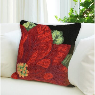 Calderon Poinsettia Indoor/Outdoor Throw Pillow