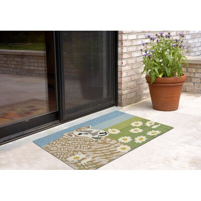 Calderon Sheep Thrills Hand-Tufted Green Indoor/Outdoor Area Rug Rug Size: 26 x 4