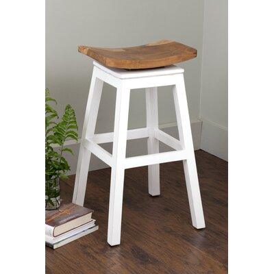 Probst 29 Bar Stool Frame Color: White
