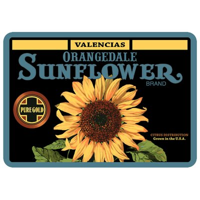 Twila Orangedale Sunflower Kitchen Mat