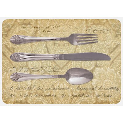 Twila Royal Silverware Kitchen Mat