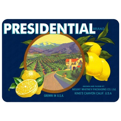 Twila Presidential Lemons Kitchen Mat