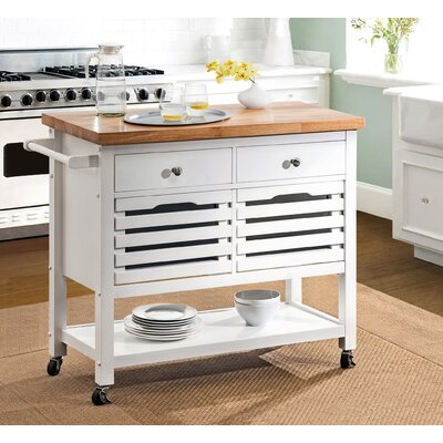 Grenora Kitchen Cart Base Finish: White