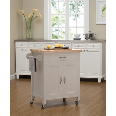 Philomene Contemporary Wood Kitchen Cart Base Finish: Gray