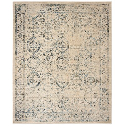 Ruthie Beige/Turquoise Area Rug Rug Size: Rectangle 8 x 10