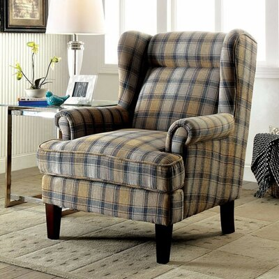 Pinkard Wingback Chair Upholstery: Brown