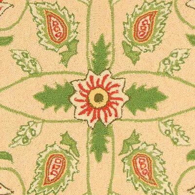Kinchen Beige/Green Rug Rug Size: Rectangle 53 x 83