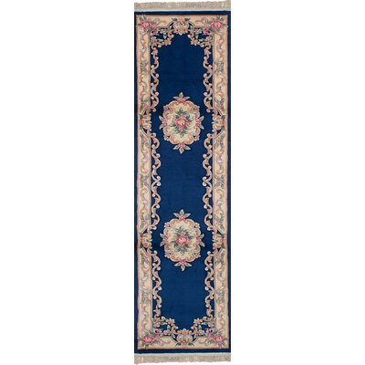 Link Wool Dark Blue Area Rug Rug Size: Runner 26 x 10