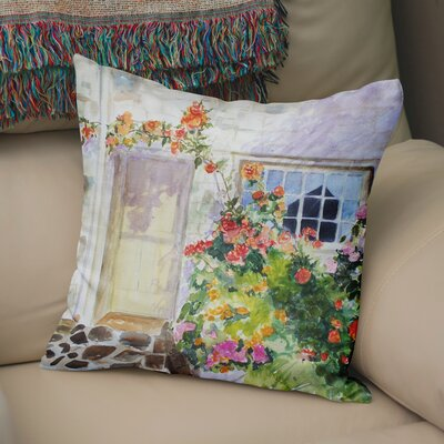 Bloomingdale Flower Entry Throw Pillow Size: 18 H x 18 W x 6 D