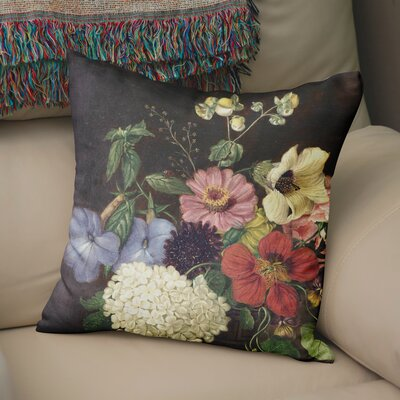 Bilodeau Blanket Flower Throw Pillow Size: 24 H x 24 W x 6 D