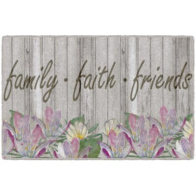 Bathild Family Faith and Friends Kitchen Mat Rug Size: Rectangle 26 x 310