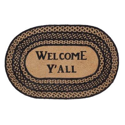 Saco Welcome Yall Area Rug Rug Size: Oval 18 x 26