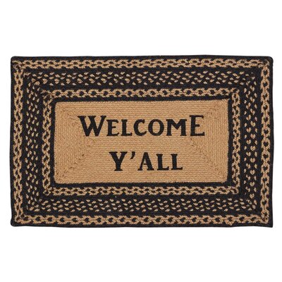 Saco Welcome Yall Area Rug Rug Size: Rectangle 18 x 26