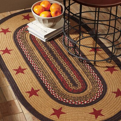 Juliana Brown/Red Area Rug Rug Size: Oval 18 x 26