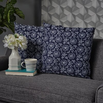 Leaper Throw Pillow Pillow Cover Color: Dark Blue
