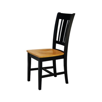 Malcolm Solid Wood Dining Chair Color: Black/Cherry