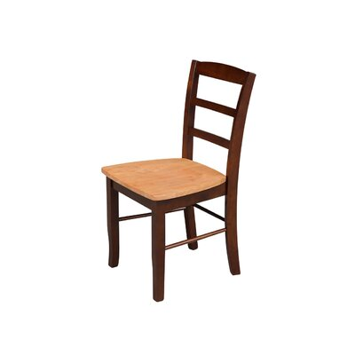 Brianne Solid Wood Dining Chair Color: Cinnamon / Espresso