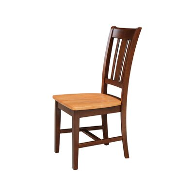 Malcolm Solid Wood Dining Chair Color: Cinnamon/Espresso