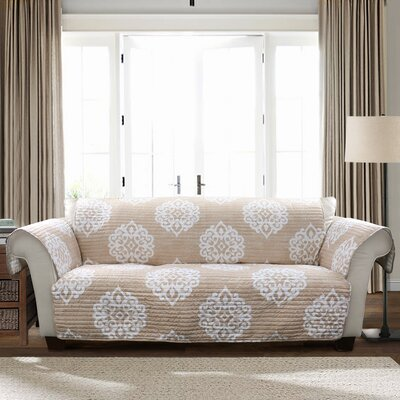 Stroudsburg Box Cushion Sofa Slipcover Color: Taupe