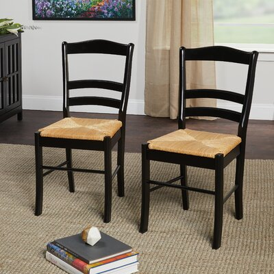 Paloma Side Chair Color: Black