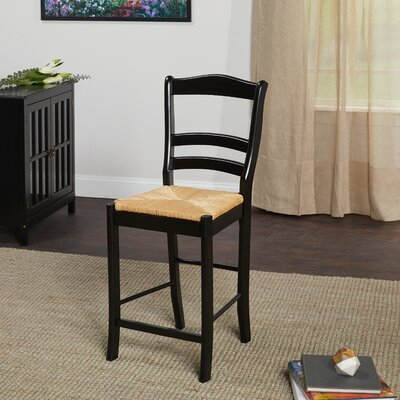Paloma 24 Bar Stool Upholstery: Black