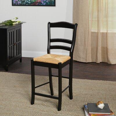 Paloma 24 Bar Stool Upholstery: Black