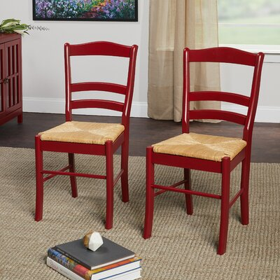 Paloma Side Chair Color: Red