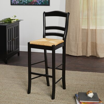 Paloma 30 Bar Stool Upholstery: Black