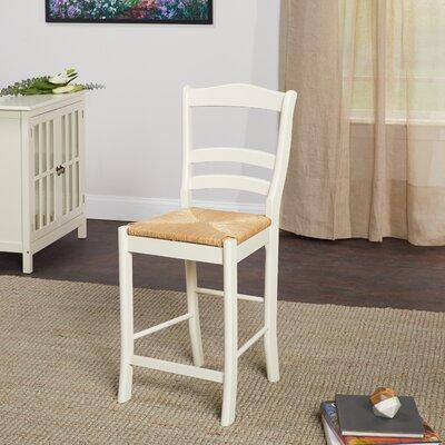 Paloma 24 Bar Stool Upholstery: Vanilla