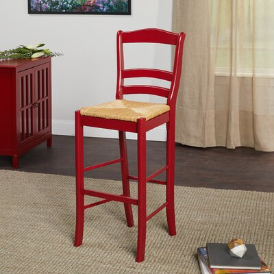 Paloma 30 Bar Stool Upholstery: Red