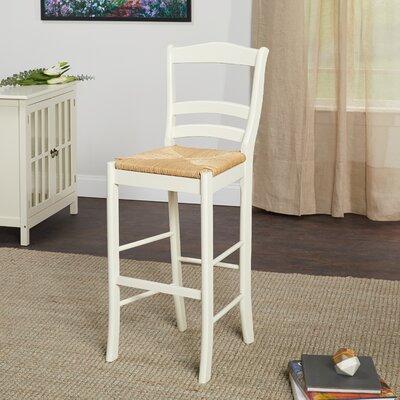 Paloma 30 Bar Stool Upholstery: Vanilla